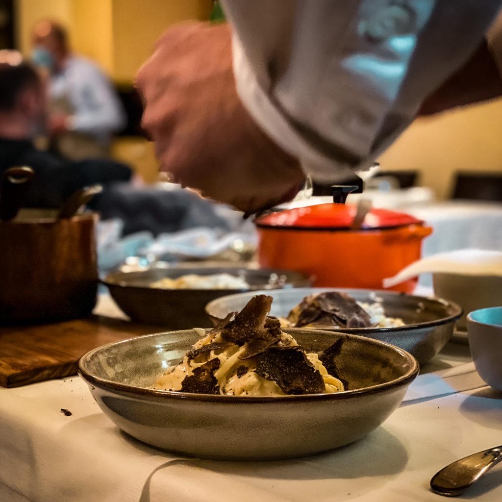 Tagliolino al Tartufo nero di Laconi Al Refettorio. A Natale regala una cena | © Alessandra Polo