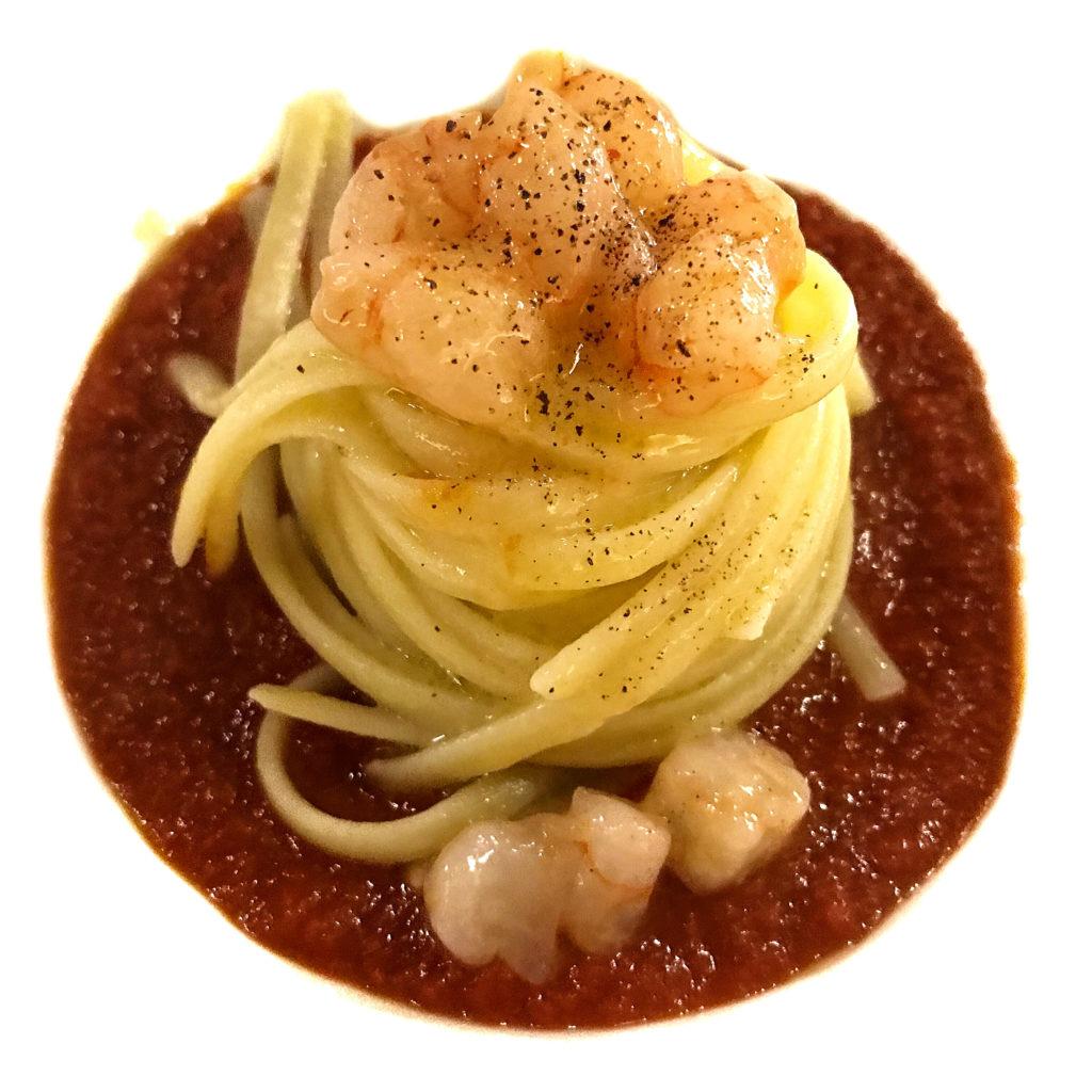 Spaghetto con gambero rosso di Josto | © Jessica Cani