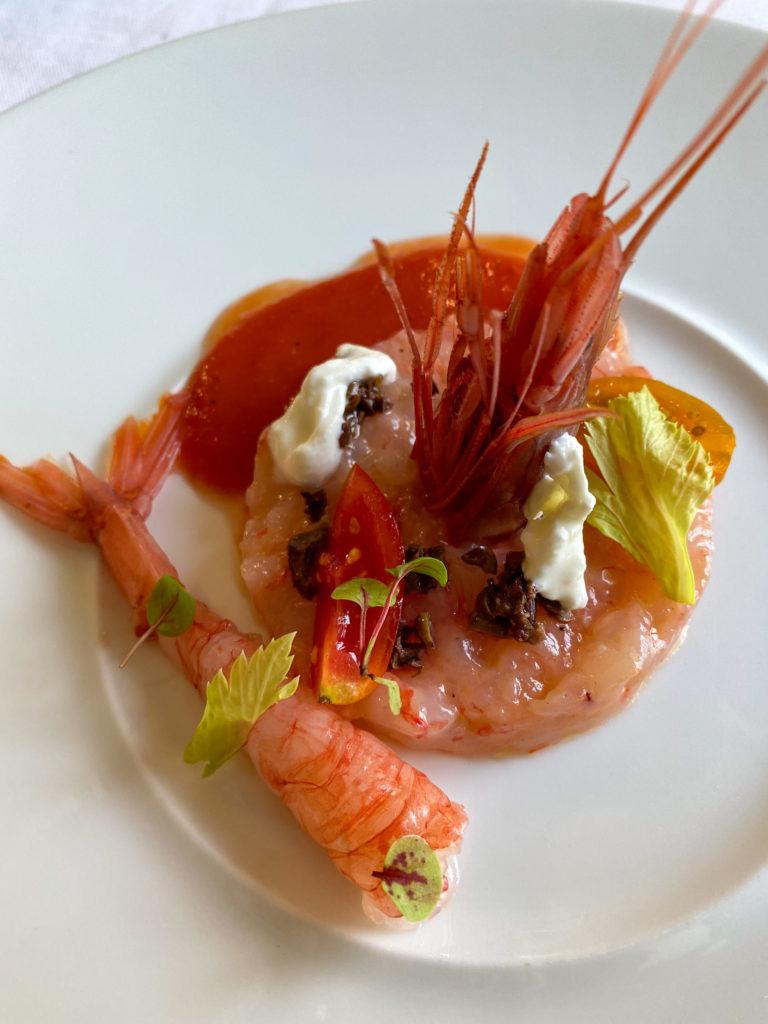 Tartare di gambero rosso al ristorante di pesce Merula a Dorgali | © Jessica Cani